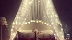 Yatak Odası Dekorasyonu İçin Peri Işıkları