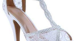 Bayan Dantel Detaylı Yazlık Açık Yüksek Topuklu Ayakkabı Modelleri