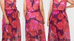 Yazlık Büyük Beden Kadın Elbise Modelleri