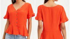 DeFacto Yazlık Kadın Bluz Modelleri