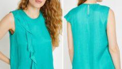 Şifon Koton Bayan Bluz Modelleri