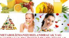 Metabolizmanızı Hızlandıracak 5 Önemli Pratik Bilgiler