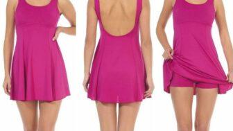 Elbiseli Kadın Mayo Modelleri