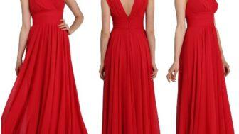Yılbaşına Özel Kadın Kırmızı Abiye Modelleri