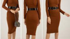Kışlık Triko Örme Kadın Elbise Modelleri