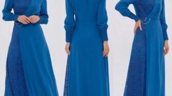Kayra Tesettürlü Kadın Uzun Elbise Modelleri