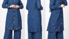 Tesettürlü Kadın Kot Alt Üst Takım Elbise Modelleri