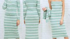 Triko Kadın Takım Elbise Modelleri