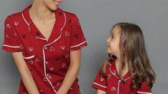 Anne Kız Pijama Takımı Modelleri