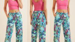 Happiness ist. Yazlık Viskon Desenli Kadın Pantolon Modelleri